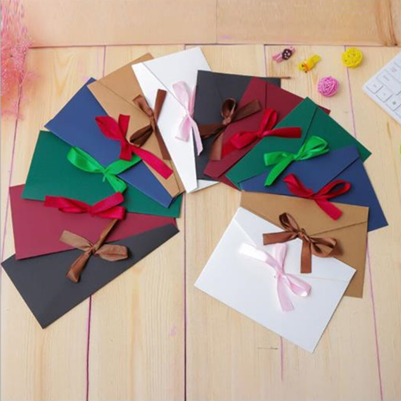(220*110mm)30pcs/lot Color Western-style Envelopes A5 Blank Bills Receive Bag Kraft Envelope Paper Enveloppe Wedding Invitations