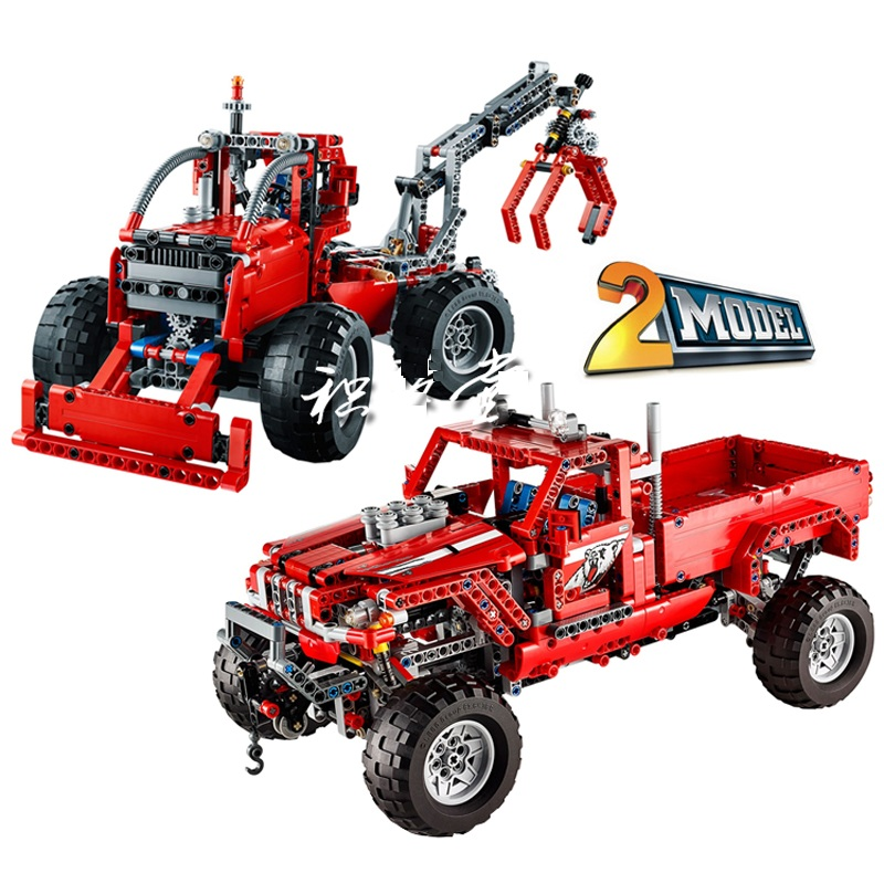 Decool Technic City 2 Model Customized Pick Up Truck Building Blocks Bricks Model Kids Toys Marvel Compatible Legoings decool technic city series bucket truck building blocks bricks model kids toys marvel compatible legoe