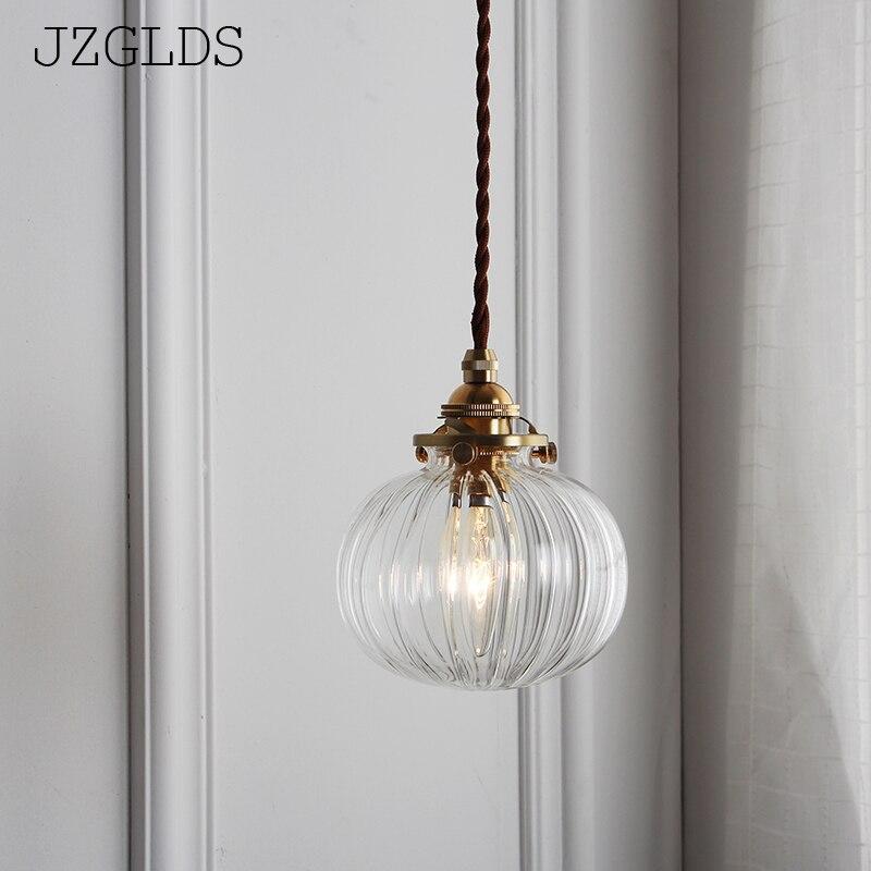 JZGLDS Original Design Japanese Style Retro Glass Brass