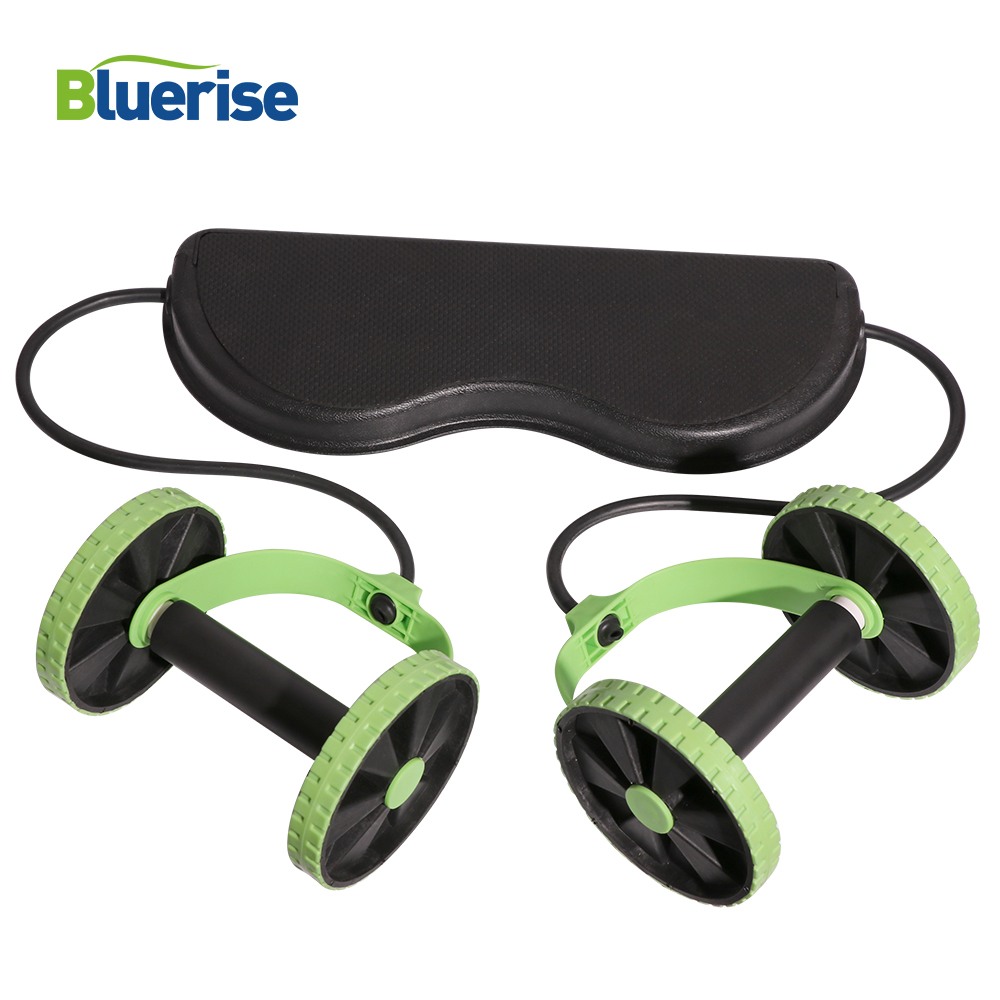 Bluerise Training Apparatus Multi-function Gym Equipment Fitness Abs Trainer Wheel Abdominal Ab Rollers Exercise Machine Fitness