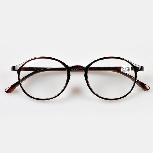 Men Women Leopard Black Round Reading Glasses Eyewear 1.0 To 4.0 Fashion Presbyopia Eyeglasses 004