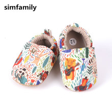 [Simfamily] Детская обувь для маленьких мальчиков и девочек; мягкая обувь для малышей; милая детская обувь с цветочным принтом для новорожденных; обувь для малышей