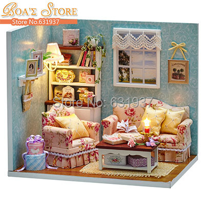 new diy miniatura wooden doll house furniture dollhouse miniature accessories puzzle toy model kits toys birthday cheap doll houses with furniture