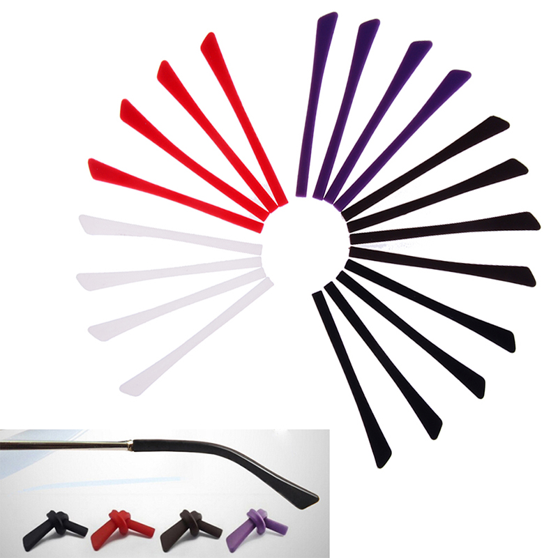 2pairs/set Grip Hooks Silicone Grip Temple Tip Holder Anti Slip Ear Hook Eyeglass Eye Glasses Accessories Eyewear Accessories
