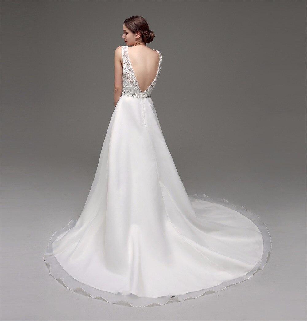 Vestidos De Novia 2017 Backless Wedding Dress Cap Sleeve ...