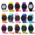 Hot Sell Waterproof Luminous Geneva Unisex Silicone Band Wrist Watch Fashion Jelly Watches PT