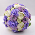 Bright purple ivory flower wedding bouquets handmade artificial bridal bouquet ramos de novia wedding accessories made in China