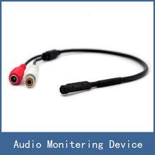 Newest Sensitive Design Mic Microphone Sound Monitor Audio Pick-up Monitering Device for CCTV Security Camera Free Shipping
