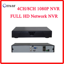 El más nuevo Mini NVR Full HD de 4 Canales 8 Canales Independiente de Seguridad CCTV 8CH NVR 1080 P 4CH ONVIF 2.0 Para Sistema de Cámaras IP 1080 P
