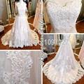 New A Line Sweetheart Woman Wedding Dress Sweep Train Appliqued Robe De Mariage Photo Reel 2016 With Beadings AS101