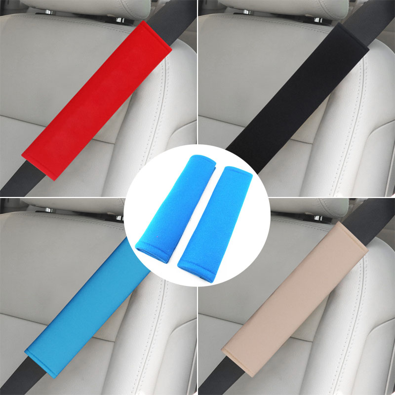 BENZEE 2pcs Umbrella Corporation Carbon Fiber Car Seat Belt Shoulders Pad Truck Cover