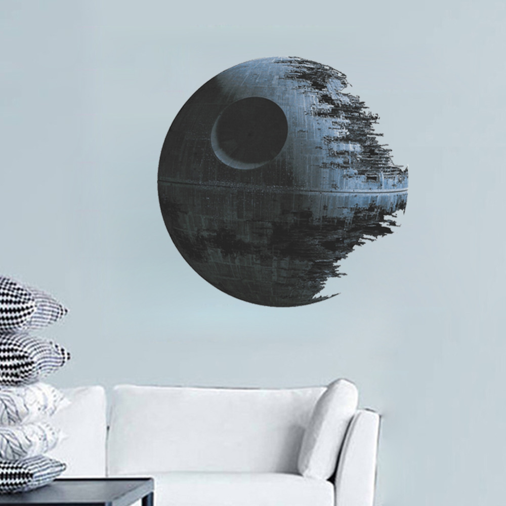 Home Decor Ultimately Weapon Death Star Wall Stickers /movie Fans Home Decor Kids Wall Decal Mural Art/ Cartoon Adesivo De Parede Zy1441