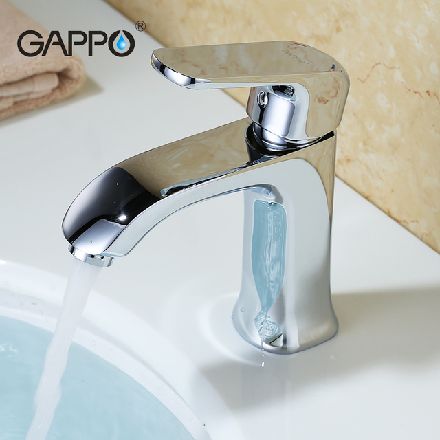 Gappo silver Solid Brass bathroom fixture faucets toilet water ...