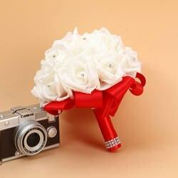 Bruidsboeket Горячие розовый зеленый желтый фиолетовый цвета слоновой кости букет невесты наличии Свадебный букет оптовая продажа Свадебный