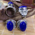 Lapis Thai Silver Lace Ring Nepal National Wind Restoring Ancient Ways Ring, A Birthday Present