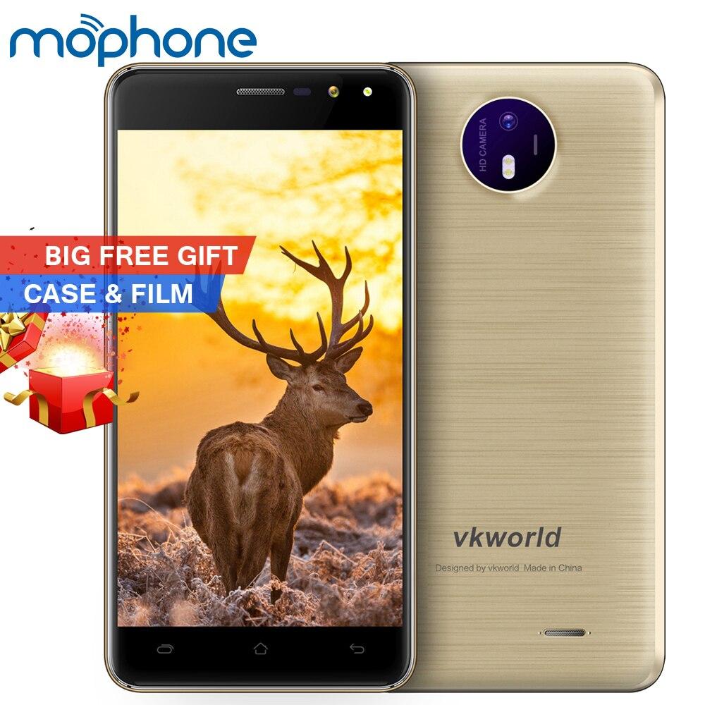 bilder für Vkworld F2 Smartphone 3G MTK6580A Quad Core 5,0 Zoll 1280*720 Android 6.0 2 GB RAM + 16 GB ROM 8MP Doppelkameras 2200 mAh Handy
