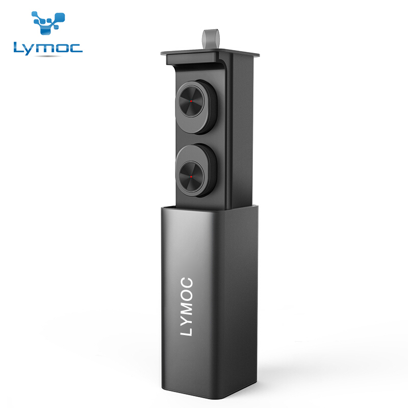 LYMOC GW10 Drawer Type Metal Charger Box TWS Wireless Headset Bluetooth V4.2 Mini Earphones Earbuds Stereo HD MIC for iPhone rockspace eb30