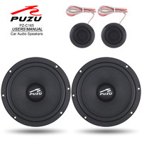 2pcs 6.5 Inch 180W Car Coaxial Speaker Loudspeak Full Range Frequency Stereo Loud Speakers with Tweeter and Frequency Divider