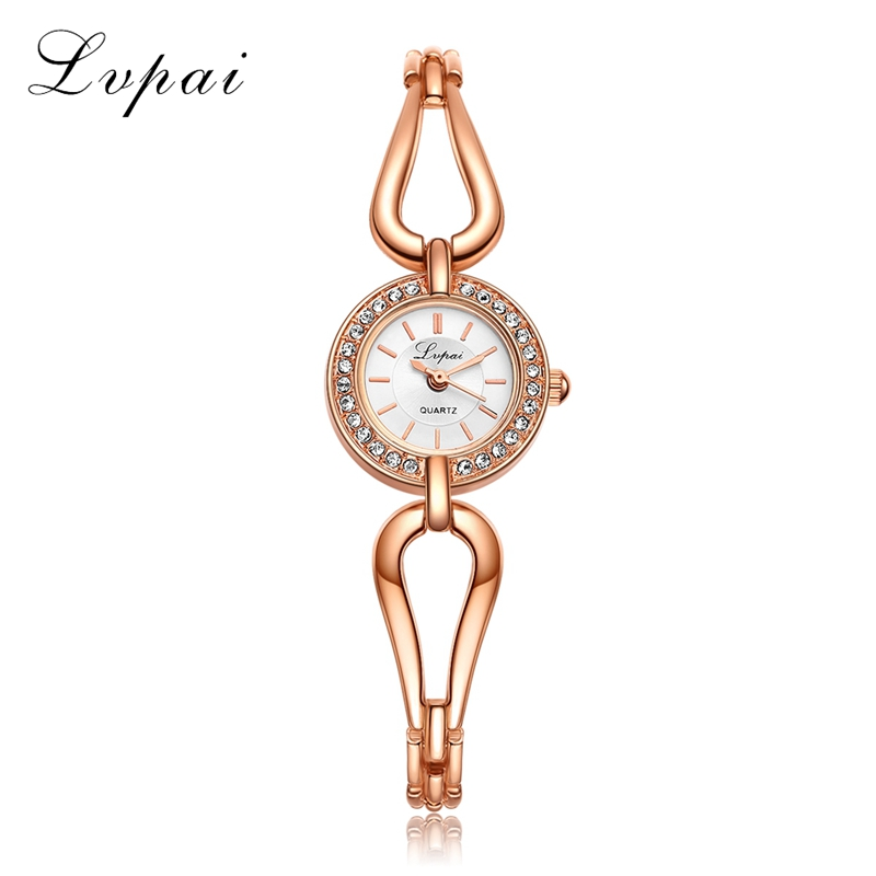 Lvpai Brand New Arrive Women Bracelet Watch Rose Gold Fashion Simple Quartz Wrist Watches Ladies Dress Luxury Gift Clock LP064 2016 new fashion women watch women wrist watch quartz watches analog stainless steel bracelet luxury gifts for ladies rose gold