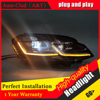 Auto Clud Car Styling For VW golf 7 headlights 2013 2017 For golf 7 head lamp led DRL front Bi Xenon Lens Double Beam HID KIT