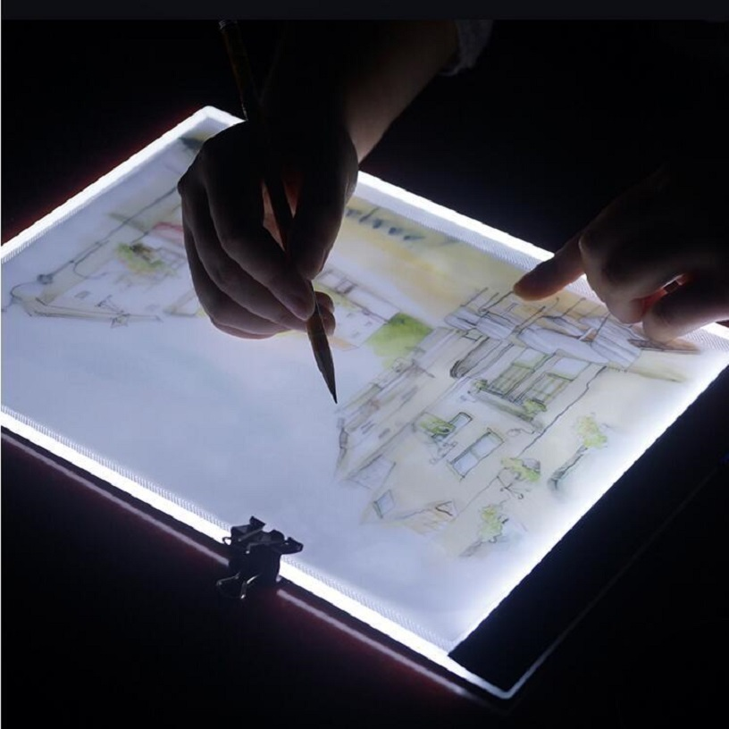 A4 Size Comics Sketch Copy Drawing Board  Adjust Brightness Acrylic Drawing Board  Art Painting Supplies