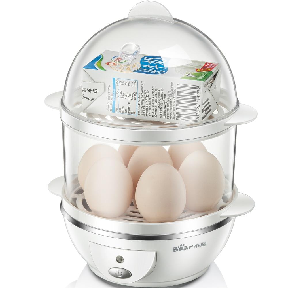 220V Multifunctional Electric Egg Boiler Breakfast Maker Steamed Egg Custard Boiled Corn Boiled Egg Steamed Milk For Breakfast hard boiled egg peeler kitchen tool
