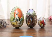 iWish L 65mm Easter Day Sunday Eggs Can Open Eggshell Iron Rabbit Egg Gifts Decoration Arts Crafts Birthday Kids Toys Education