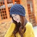 Femme твердые чистая skullies унисекс осень шапочки зима теплая вводная часть женщин шляпа женский вязаная шапка дамы капот