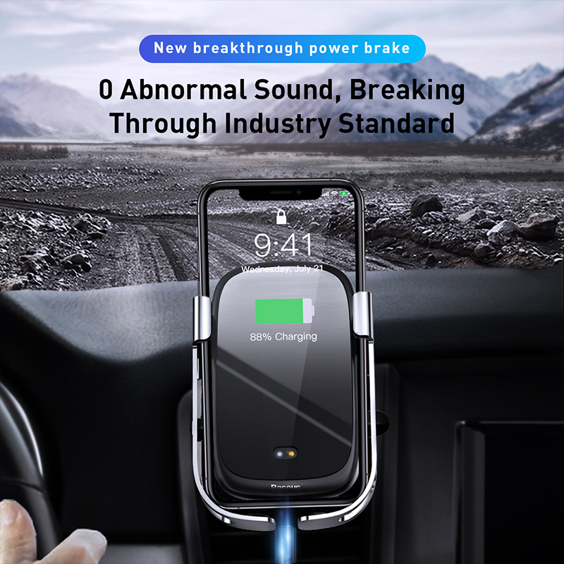 Image 4 - Baseus 10w car qi wireless charger for iPhone X Samsung S10 S9 S8  car wireless charger intelligent infrared car mountCar Chargers   -