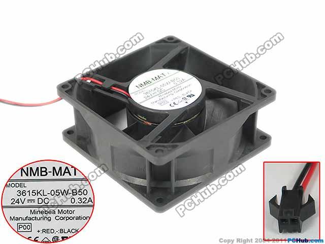 NMB-MAT 3615KL-05W-B50, P00 Server Square fan DC 24V 0.32A 90X90X38mm sw 05w