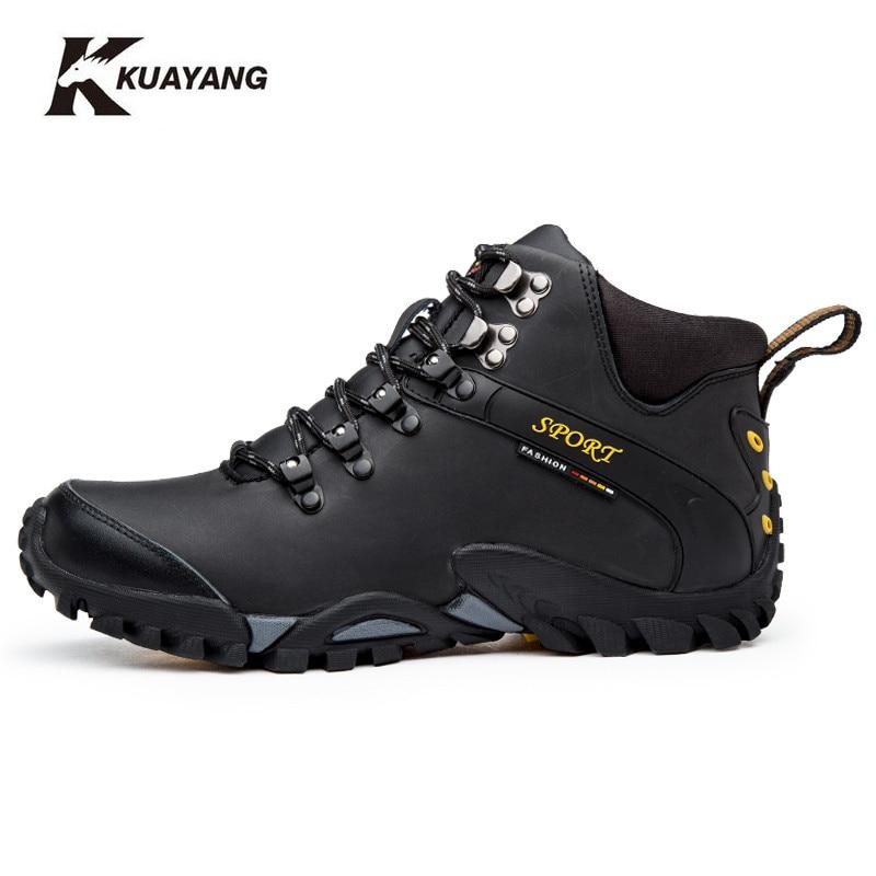 Nuovi stivali scarpe invernali da uomo militare chuteira caviglia botas  hombre cuoio chaussure homme erkek bot nero Inverno a medio (b 40a9d3ae846