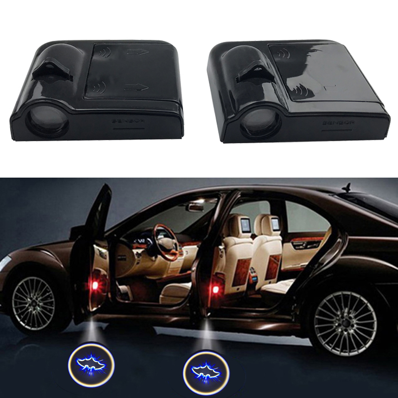 USA SHIPPING-2Pcs For Honda Logo WIRELESS LED CAR DOOR LOGO PROJECTORS LIGHTS