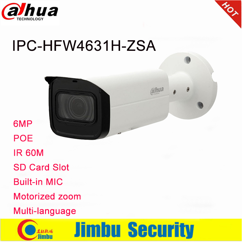 Dahua IP Camera 6MP IPC HFW4631H ZSA 2 7 13 5mm Upgrade version of IPC HFW4431R