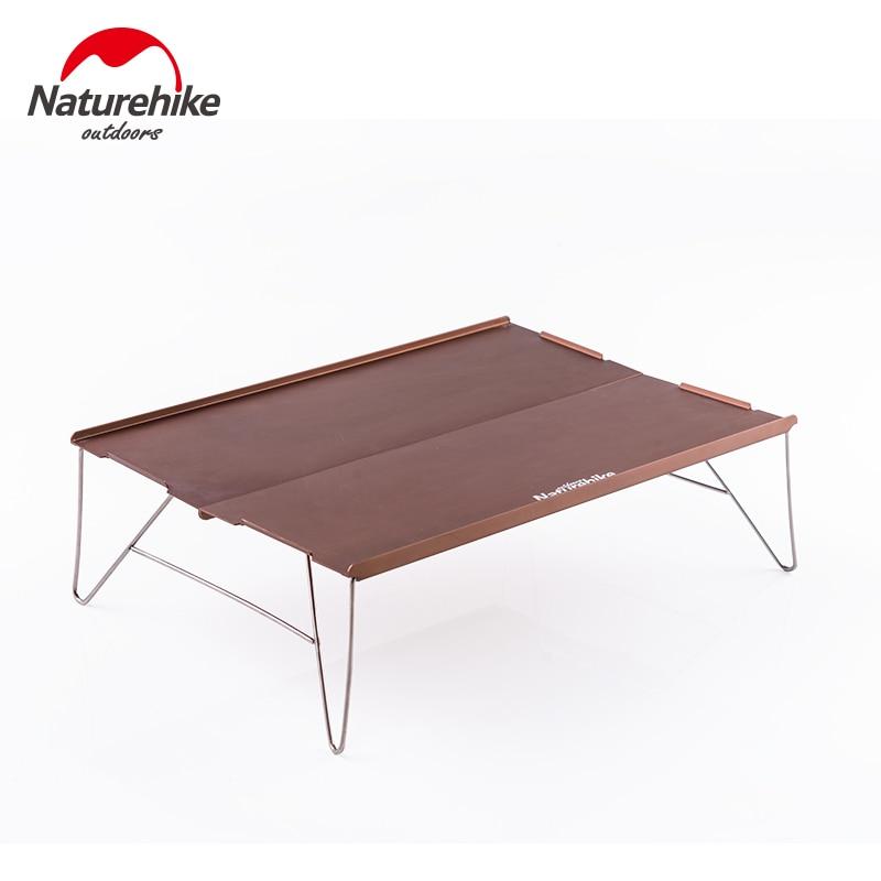 naturehike outdoor camping ultralight portable aluminium alloy folding table dining table mini. Black Bedroom Furniture Sets. Home Design Ideas