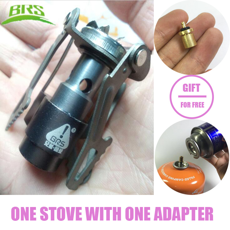 BRS-3000T Ultra-light Titanium Alloy Camping Stove Gas Stoves Outdoor Cooker Outdoor Stove Gas Stove Miniature Portable Picnic