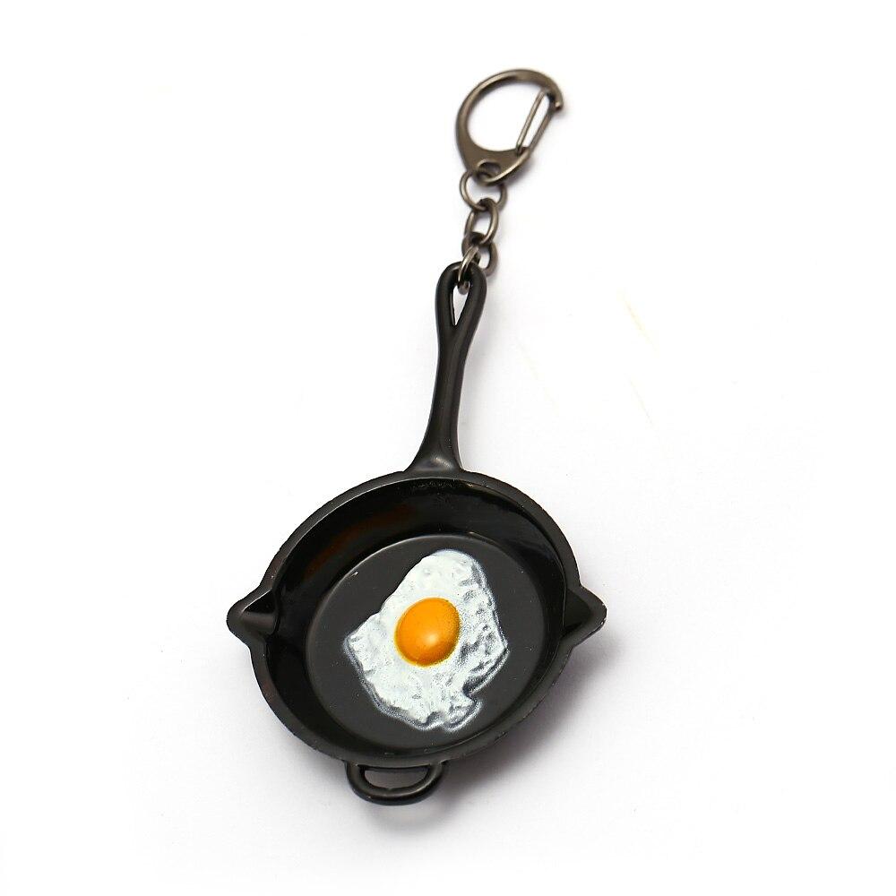 HSIC PUBG Keychain Playerunknowns Battlegrounds Omelette Egg Chicken Dinner Weapon Keyring Metal Pans Men Chaveiro HC12829