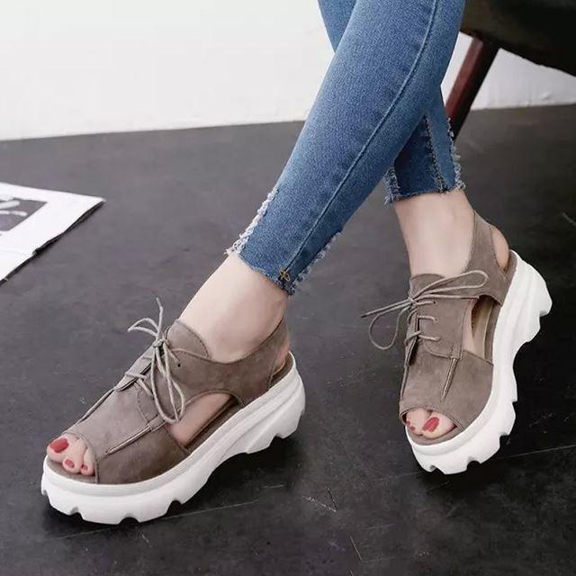 Muffin fond épais chaussures à fond plat Souliers chaussures Sn3Ww