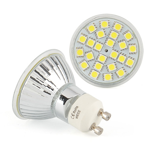 LED Bulb GU10 6W 230V 24 5050 SMD Home LED light bulb Lamp Pure White