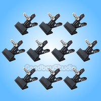 10PCS Studio Photo Heavy Duty Background Clamp Clip head with Spigot for Photography Lighting X10