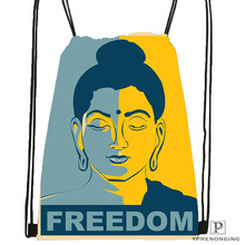 Custom gautama buddha Drawstring Backpack Bag Cute Daypack Kids Satchel (Black Back) 31x40cm#20180611-02-77