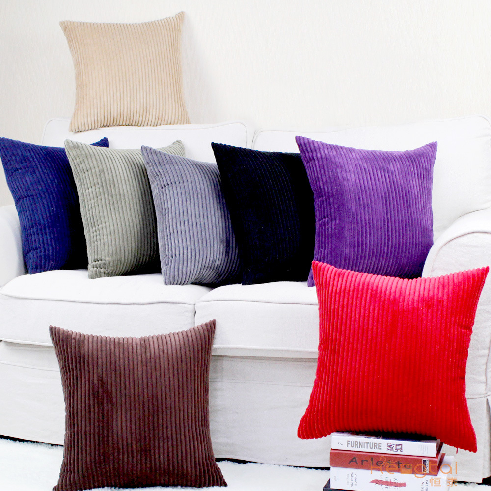 Sofa Cushion Pillowcase Decoration Aprince Nordic-Style Solid-Color Corduroy Household-Items