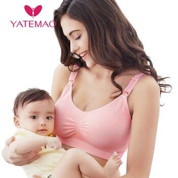 ff04f0b1b YATEMAO maternidad lactancia materna ropa de enfermería Bra dormir  sujetadores de enfermería las mujeres embarazadas Soutien Gorge Allaitement ropa  interior