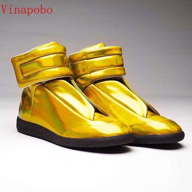 حار تصميم الملونة الشقق جلد الرجال حذاء كاجوال مرونة عالية الجودة الفاخرة الفرقة الدانتيل متابعة عالية أعلى تدليك أحذية رياضية رجالية-في أحذية رجالية غير رسمية من أحذية على  مجموعة 1