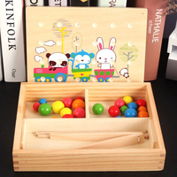 Baby Montessori Daily Life Clipping Ball Colorful Balls Shapes Colors Hand eye Coordination Early Educational Toy for Children