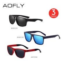 Aofly 3 pacotes de óculos de sol masculino mulher pacote venda um pacote de 3 óculos