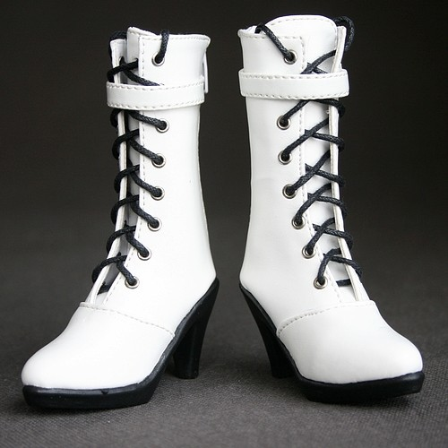[wamami] 27# White 1/3 BJD SD Dollfie Synthetic Leather High heels Boots/Shoes 1 3 1 4 1 6 1 8 1 12 bjd wigs fashion light gray fur wig bjd sd short wig for diy dollfie