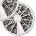 2015 2400 PCS 1.5mm 3D Rhinestones Glitter Diamante Gems Nail Art Salon Dicas DIY Decorações Roda 51U3 smt 101