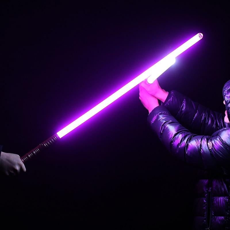 Nueva venta unids 1 pieza Cosplay 100 cm longitud sable de luz espada parpadeante Luke juguete electrónico cielo luz Saber juguete cumpleaños regalo de Navidad - 3
