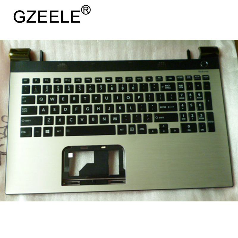 GZEELE New Laptop LCD TOP CASE For <font><b>Toshiba</b></font> C50-C C50D-C C55-C C55D-C <font><b>L50</b></font>-C Palmrest Keyboard Bezel <font><b>Cover</b></font> Upper Case Assembly US image