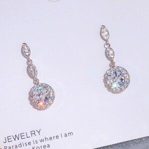 Luxury Female Water Drop Earrings Fashion AAA+ Zircon Stone Earrings Elegant Long Dangle Earrings Women Wedding Jewelry Gifts